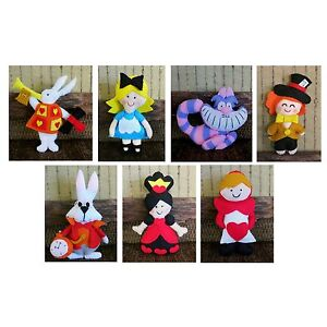 Alice in Wonderland Stuffed Toy, Children's Play Soft Toys, Felt Pretend Play