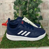 NEW Adidas Boys Tensaur K Athletic Shoes Blue White Sneakers - PICK SIZE
