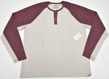 Lucky BRAND Thermal Henley Men Size XL Venice Burnout Colorblock Shirt Tee P412