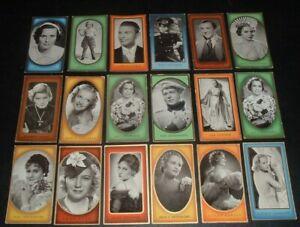 LQQK 18 vintage 1930s german tobacco cards MOVIE STARS, lombard, temple, etc. #3