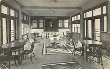 c1910 Postcard; Hotel Hollywood Interior View Lounge Sunroom Los Angeles CA