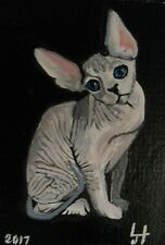 "ORIGINAL  ACEO PAINTING BY LJH ONE-OF-A-KIND  ""CLARRISA""  A536 SPHYNX"