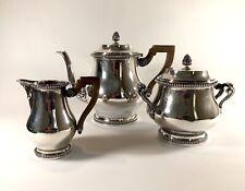 More details for elegant solid silver sterling tetard freres tea set coffee 1435 g paris art deco