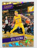 2017-18 Panini Prestige Kyle Kuzma RC, Cracked Ice SP #/199, Lakers Star Rookie!