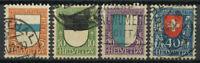 Switzerland 1922 Mi. 175-178 Used 100% Pro Juventute, Coat Of Arms