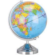 Globe Touch Lamp Soft Light World Map Atlas 360 Degree Rotating Axis 42cm Decor