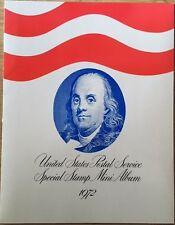 1972 UNITED STATES POSTAL SERVICE SPECIAL STAMP MINI-ALBUM MINT