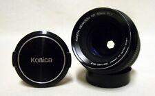 KONICA Hexanon AR f/1.7 50mm Prime Lens SLR Film Camera DSLR Sony Micro w/Caps