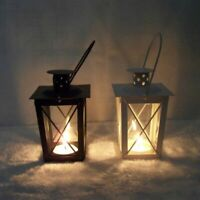 Black White Romantic Candle Holder Iron Lantern Hanging Lamp Decor Gift