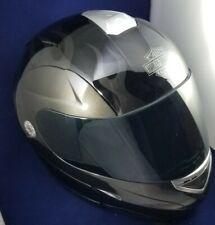 Harley Davidson Stealth Flames Modular Flip Up Helmet ~ Black ~ Size XXL