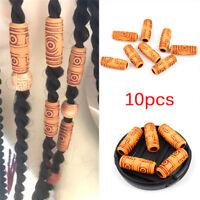10PCS Hair Dreadlock Braid Hair Beads Ring Cuff Clip Tibetan Hair Accessories HU