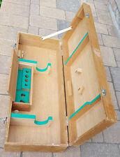 Large Vtg Art Box-Yokoya No 36-Pochade-Wood Paint/Easel Case-Handel-Green Felt
