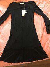 BNWT Tory Burch Women's Foster Ruffle Hem Shift Dress In Black