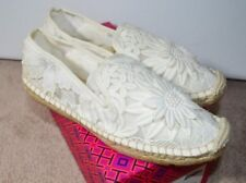 164c6aa84fb6 Tory Burch Darian Guipure Lace Floral Flower Espadrilles Ivory Size 6.5
