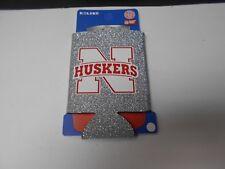 4 Nebraska Cornhuskers Can Holders. Glitter. Neoprene  4 of them.  WHB