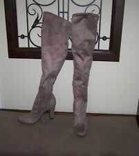bc178170065 New ListingUnisa brown taupe suede over the knee boot