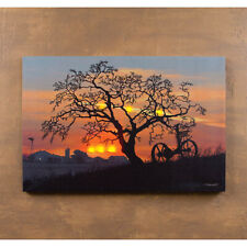 WAITING FOR DAYBREAK Lighted Canvas, LED Light Up Sunrise Picture Wall Art Home