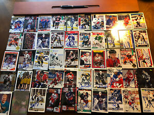 50 signed (autographed) Hockey Cards NHL Chicago Black Hawks, Team USA Olympics