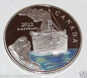 2012 TITANIC Silver Coin Ice Berg Queen Elizabeth II Ship 100 Year Anniversary