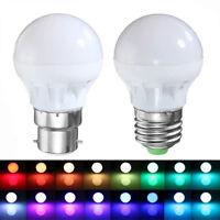 3W 16 Colour Changing RGB LED E27 B22 Bulb Mood Night Light Lamp+Remote Control