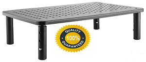 Monitor Stand Computer Desk Riser - Adjustable Height - for Laptop, Printers