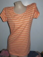 X90:New H&M Basic Tops Shirt  for Women-XL-Stripey White