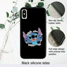 Disney Lilo and Stitch Black Case Cover iPhone Samsung Huawei Google*