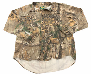 Cabela's Realtree Xtra Camo Shirt Long Sleeve Button Up Men's sz XL real tree