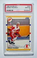 1990 Score Sergei Fedorov PSA 10 Graded Rookie Card (Red Wings)