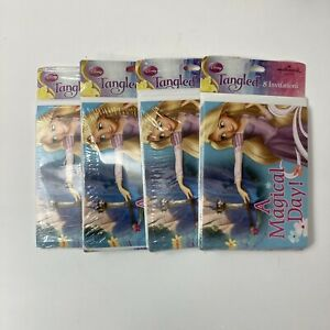 """Disney Tangled Invitations Princess Party """"A Magical Day"""" 32 Count *NEW*"""