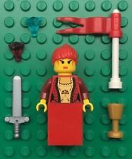 Lego Red Queen Princess Minifig Lot: castle figure: woman girl lady maiden
