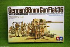 Tamiya GERMAN 88mm GUN FLAK 36 NORTH AFRICA CAMPAIGN 1/35 Scale Kit 35283