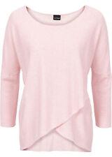 Damen Pullover mit 3/4 Arm Rosa Wickeloptik S M XL Pulli Viscose Shirt neu 706