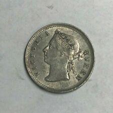 1885 Hong Kong 5 Cents - Silver