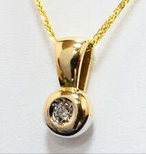 Anhänger pendant 585 GOLD pendentif or 14 Karat Brillant Diamant diamond 14K oro