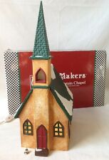 Merry Makers Merry Mountain Chapel Lighted with Bell Dept 56 #9370-0
