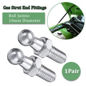 Universal Pair Boot Bonnet Gas Strut End Fitting Ball Pin Joint Valve 10mm M8