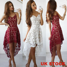 UK Sexy Women Lace Evening Cocktail Party Prom Ball Ladies Sleeveless Maxi Dress