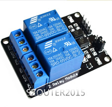 5V  2 Channel Relay Module With optocoupler For PIC AVR DSP ARM Arduino  New