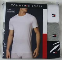 Details about  /Tommy Hilfiger Men/'s T-Shirt 3 Pack classic V Neck White Navy Blue Grey Medium