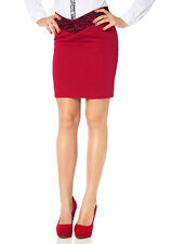 Melrose femmes pencilskirt Jupe crayon court dentelle rouge taille 34 393314