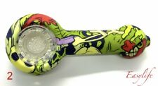 Silicone Smoking Pipe W/ Glass Bowl Us Seller Same Day Ship