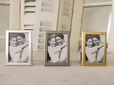 Mini Bilderrahmen Passfoto Silber/Gold/Grau 3er Set Gastgeschenke/ Tischkarten