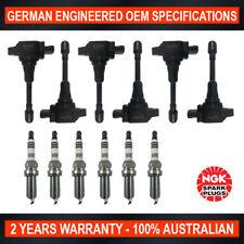 6x Genuine NGK Iridium Spark Plugs & 6x Ignition Coils for Nissan Skyline V36