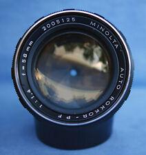 Minolta Auto Rokkor-PF 58mm 1.4 Lens