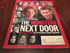 "Time Magazine Columbine Shooting Massacre ""The Monsters Next Door"" May 3,1999"
