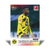 2020 2021 card #65 Topps Now Bundesliga YOUSSOUFA MOUKOKO RC Borussia Dortmund