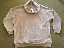 Suzannegrae 2XL Pale Lilac/musky Pink Velour Cowl Neck Warm Cosy Top NWTGS