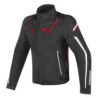 Dainese Stream Line D-Dry Jacket Black Red Waterproof Motorcycle Jacket NEW