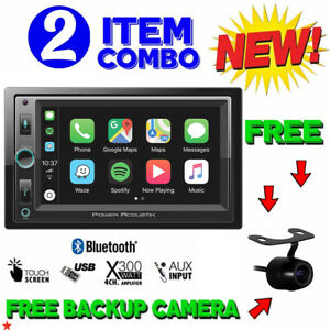 "POWER ACOUSTIK DOUBLE DIN CP-650 DIGITAL MEDIA PLAYER 6.5"" LCD BLUETOOTH USB AUX"